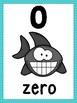 Ocean Number Posters (Teal Blue Chevron)