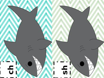 Ocean Shark Themed Beginning and Ending Digraph Sort: Sh, Ch, Th, Wh