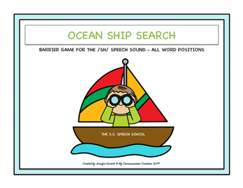 Ocean Ship Search Barrier Game for /SH/: All Word Positions Speech Therapy