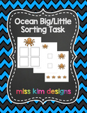 Ocean Big / Little Sorting Folder Game for Early Childhood Special Education
