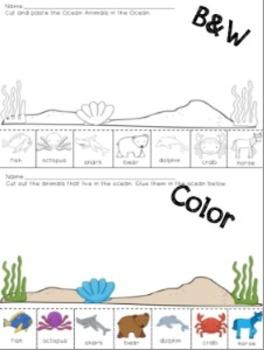 Ocean Sorting Activities {for Pre-K & K}