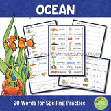 Ocean Spelling Words Practice