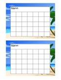 Ocean Sticker Chart