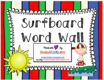 Ocean Surfer Themed Word Wall Pack