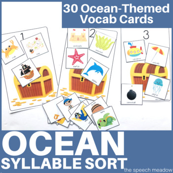 Ocean Syllable Sort Activity
