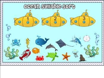 Ocean Syllable for Smart Board