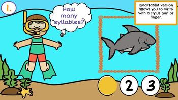 Ocean Syllables-A Digital Literacy Center (Compatible with Google Apps)