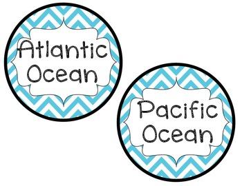 Ocean Table Labels