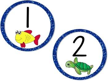 Ocean Table Numbers - Circles