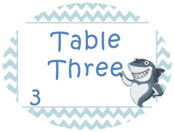 Ocean Table Signs