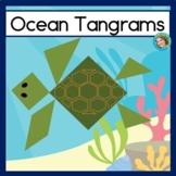 Summer Math Activity 2D Shape Center Ocean Tangram Puzzles