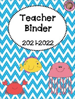 Ocean Teacher Binder {FREE yearly updates!}