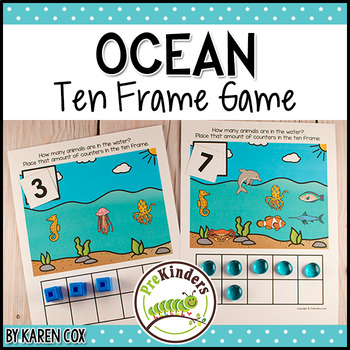 Ocean Ten Frame Game  (Pre-K + K Math)