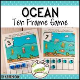 Ocean Ten Frame Game  (Pre-K + K Math)