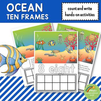 Ocean Ten Frames Count and Write Activities