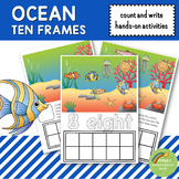 Ocean Ten Frames Count and Write Activities