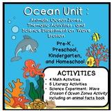 Ocean Thematic Unit for Preschool, Pre-K, and Kindergarten