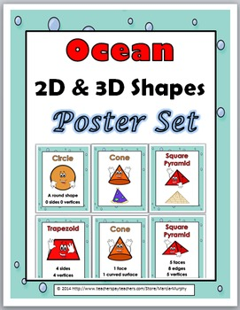 2D Shapes and 3D Shapes - Ocean Theme