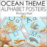 Ocean Theme Primary Alphabet Posters All Sea Life | Ocean