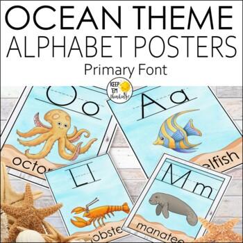 Ocean Theme Alphabet Posters All Sea Life - Ocean Theme Cl