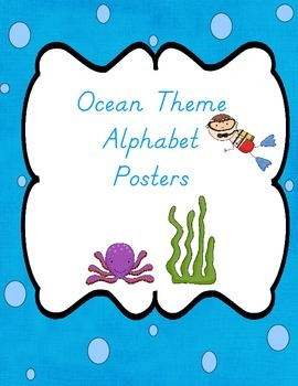 Ocean Theme Alphabet Posters With Pictures