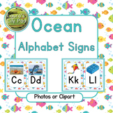 Ocean Theme Alphabet Signs