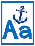 Ocean Theme Alphabet Wall Prints