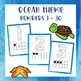 Ocean Theme - Alphabet and Numbers 1 - 30