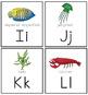 Ocean Theme: Animal Letter Cards