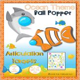 Ocean Theme Articulation Ball Popper Targets