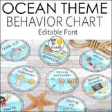 Ocean Theme Behavior Clip Chart - Editable! Ocean Theme Cl