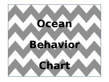 Ocean Theme Behavior Management Chart