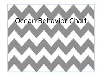 Ocean Theme Behavior and Classroom Management Clip Chart
