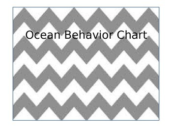 Ocean Theme Behavior and Classroom Management Clip Chart