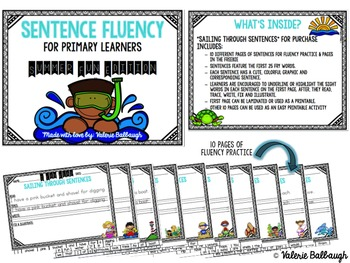 Sentence Fluency for Primary Learners - Summer Edition