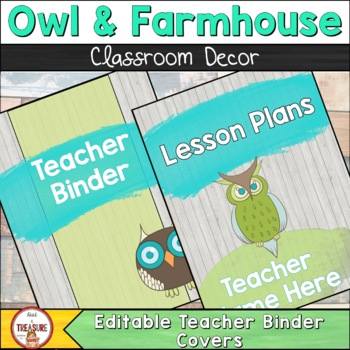 Farmhouse Theme Binder Cover and Spines (editable)