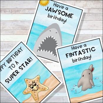 Ocean Theme Birthday Clip Chart, Ocean Theme Classroom Decor