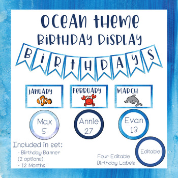 Ocean Theme - Birthday Display