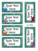 Ocean Theme Blank Cards - Editable
