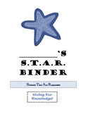 Ocean Theme Blue STAR Binder Bundle