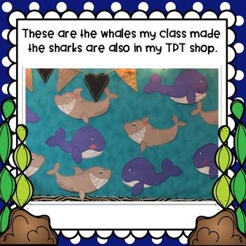 Ocean Theme Blue Whale Craft & Class Book