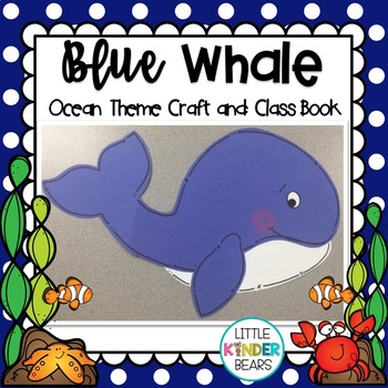Ocean Theme Blue Whale Craft