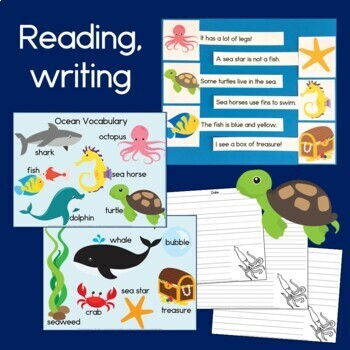 Ocean Theme Bundle: Reading, Hundreds Charts, Telling Time, Patterns & Money
