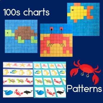 Ocean Theme Bundle, Reading, Hundreds Charts, Telling Time, Patterns & Money
