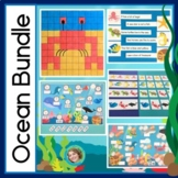 Ocean Theme Bundle, Reading, Hundreds Charts, Telling Time