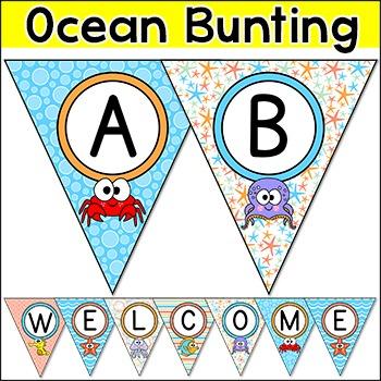 Bunting - Ocean Theme Classroom Decor