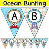 Bulletin Board Letters Editable Bunting Banner - Ocean Theme Classroom Decor