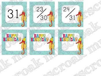 Calendar Kit: Ocean Themed