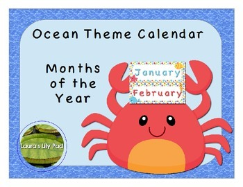 Ocean Theme Calendar Months of the Year