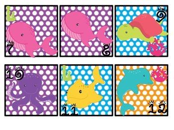 Ocean Theme Calendar Patterns